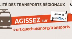 Performance des trains régionaux (TER, RER, Transiliens)