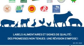 Labels alimentaires et signes de qualité – Promesses non tenues : une révision s'impose !